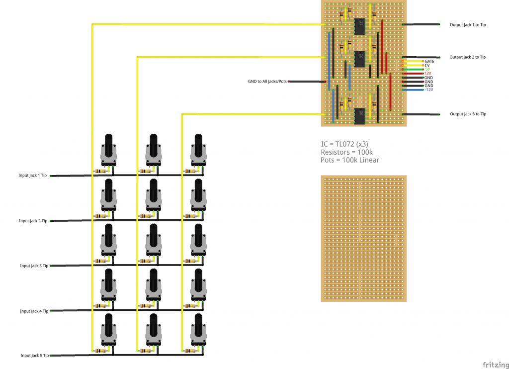 Doepfer A 100 Matrix Mixer Diy Stripboard Diagram Muff Wiggler